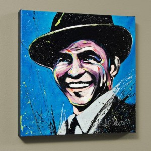 "Frank Sinatra (Blue Eyes) LIMITED EDITION Giclee on Canvas (48"" x 48"") by David Garibaldi"