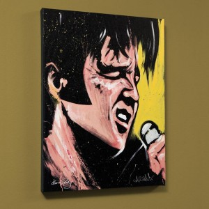 Elvis Presley (68 Special) LIMITED EDITION Giclee on Canvas by David Garibaldi
