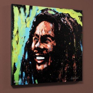 Bob Marley (Marley) LIMITED EDITION Giclee on Canvas by David Garibaldi