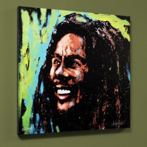 "Bob Marley (Marley) LIMITED EDITION Giclee on Canvas (36"" x 36"") by David Garibaldi"