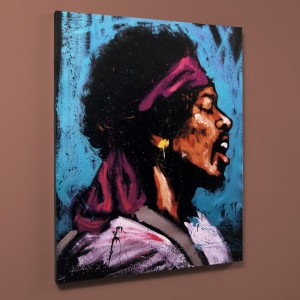 "Jimi Hendrix (Bandana) Limited Edition Giclee on Canvas (28"" x 35"") by David Garibaldi"