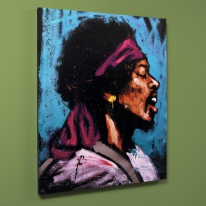 "Jimi Hendrix (Bandana) Limited Edition Giclee on Canvas (40"" x 50"") by David Garibaldi"