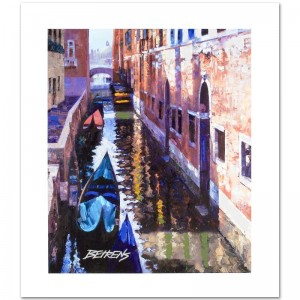 Magic of Venice I Limited Edition Hand Embellished Giclee on Canvas by Howard Behrens! Numbered and Hand Signed with Certificate of Authenticity!