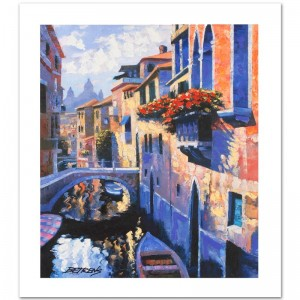 Magic of Venice III Limited Edition Hand Embellished Giclee on Canvas by Howard Behrens! Numbered and Hand Signed with Certificate of Authenticity!