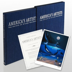 America's Artists: The Artists of Wyland Galleries (2004) Limited Edition Collector's Fine Art Book by World-Renowned Artist Wyland! With Numbered Vellum Front Page Hand Signed by Wyland