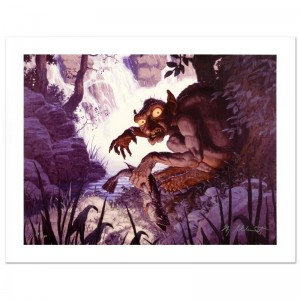 Gollum Limited Edition Giclee on Canvas by The Brothers Hildebrandt! Numbered and Hand Signed by Greg Hildebrandt! Includes Certificate of Authenticity!