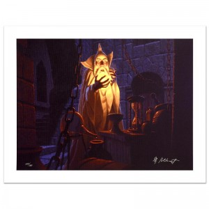 Saruman And The Palantir Limited Edition Giclee on Canvas by The Brothers Hildebrandt! Numbered and Hand Signed by Greg Hildebrandt! Includes Certificate of Authenticity!