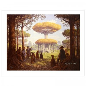 Lothlorien Limited Edition Giclee on Canvas by The Brothers Hildebrandt! Numbered and Hand Signed by Greg Hildebrandt! Includes Certificate of Authenticity!