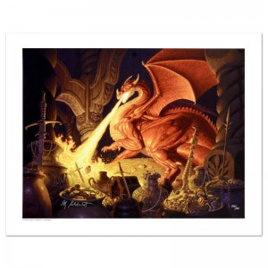 Smaug Limited Edition Giclee on Canvas by The Brothers Hildebrandt! Numbered and Hand Signed by Greg Hildebrandt! Includes Certificate of Authenticity!