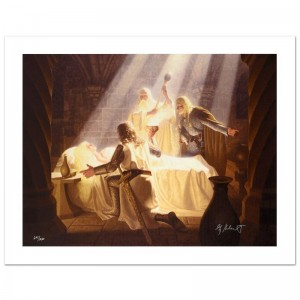 The Healing Of Eowyn Limited Edition Giclee on Canvas by The Brothers Hildebrandt! Numbered and Hand Signed by Greg Hildebrandt! Includes Certificate of Authenticity!