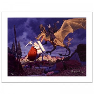 Eowyn And The Nazgul Limited Edition Giclee on Canvas by The Brothers Hildebrandt! Numbered and Hand Signed by Greg Hildebrandt! Includes Certificate of Authenticity!