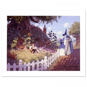 Gandalf Visits Bilbo Limited Edition Giclee on Canvas by The Brothers Hildebrandt! Numbered and Hand Signed by Greg Hildebrandt! Includes Certificate of Authenticity!