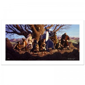 Fellowship Of The Ring Limited Edition Giclee on Canvas by The Brothers Hildebrandt! Numbered and Hand Signed by Greg Hildebrandt! Includes Certificate of Authenticity!