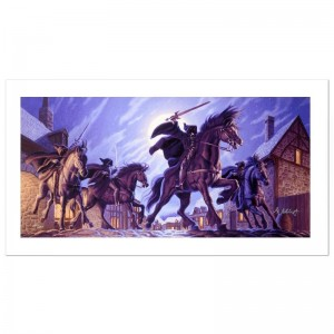 The Black Riders Limited Edition Giclee on Canvas by The Brothers Hildebrandt! Numbered and Hand Signed by Greg Hildebrandt! Includes Certificate of Authenticity!