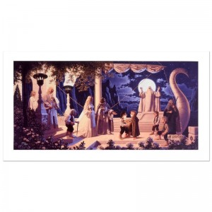 At The Grey Havens Limited Edition Giclee on Canvas by The Brothers Hildebrandt! Numbered and Hand Signed by Greg Hildebrandt! Includes Certificate of Authenticity!