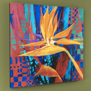 Bird of Paradise Limited Edition Giclee on Canvas by Simon Bull