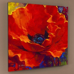 Lady In Red Limited Edition Giclee on Canvas by Simon Bull