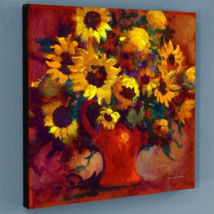 Sunflowers Limited Edition Giclee on Canvas by Simon Bull