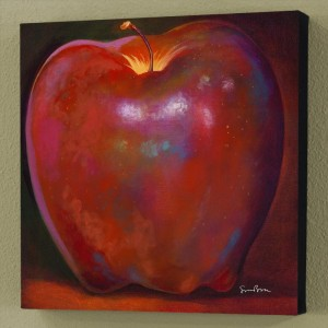 Apple Wood Reflections Limited Edition Giclee on Canvas by Simon Bull