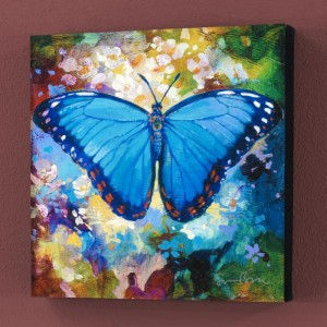 Blue Morpho Limited Edition Giclee on Canvas by Simon Bull