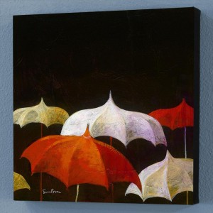 Chit Chat Limited Edition Giclee on Canvas by Simon Bull