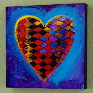 It's A Love Thing II Limited Edition Giclee on Canvas by Simon Bull
