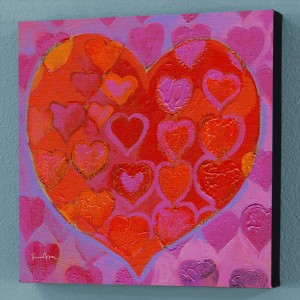 Playful Heart VI Limited Edition Giclee on Canvas by Simon Bull