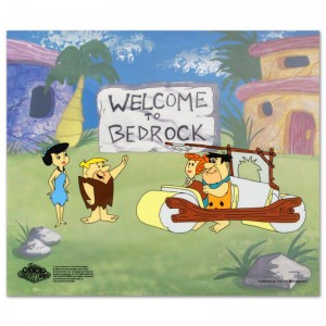 Fred's New Car Limited Edition Sericel from the Popular Animated Series The Flintstones with Certificate of Authenticity!