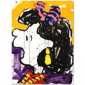 Glam Slam Limited Edition Hand Pulled Original Lithograph by Renowned Charles Schulz Protege