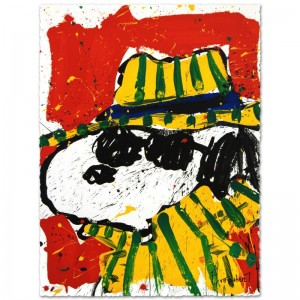 It's the Hat That Makes the Dude Limited Edition Hand Pulled Original Lithograph by Renowned Charles Schulz Protege