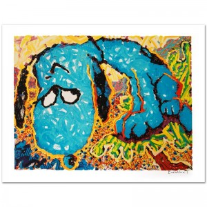 Hollywood Hound Dog Limited Edition Hand Pulled Original Lithograph by Renowned Charles Schulz Protege