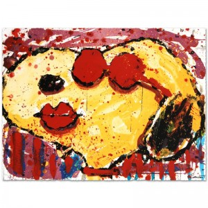 Very Cool Dog Lips in Brentwood Limited Edition Hand Pulled Original Lithograph by Renowned Charles Schulz Protege