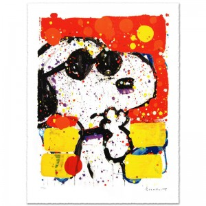 Cool & Intelligent Limited Edition Hand Pulled Original Lithograph by Renowned Charles Schulz Protege