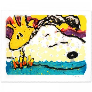 Bora Bora Boogie Bored Limited Edition Hand Pulled Original Lithograph by Renowned Charles Schulz Protege