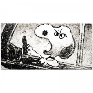 "Rage Rover Limited Edition Hand Pulled Original Lithograph (49"" x 24.5"") by Renowned Charles Schulz Protege"