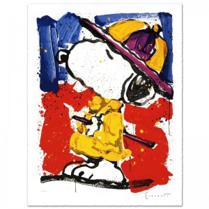 Prada Puss Limited Edition Hand Pulled Original Lithograph by Renowned Charles Schulz Protege