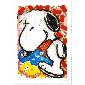"Hip Hop Hound Limited Edition Hand Pulled Original Lithograph (30"" x 47"") by Renowned Charles Schulz Protege"