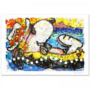"Chillin Limited Edition Hand Pulled Original Lithograph (38.5"" x 26"") by Renowned Charles Schulz Protege"