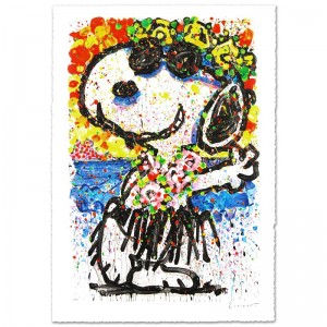 "Boom Shaka Laka Laka Limited Edition Hand Pulled Original Lithograph (25.5"" x 38.5"") by Renowned Charles Schulz Protege"
