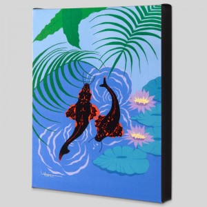 Koi Garden Limited Edition Giclee on Canvas by Larissa Holt