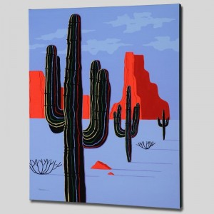 Cacti Limited Edition Giclee on Canvas by Larissa Holt