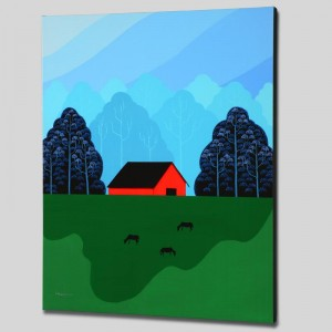 New England Barn Limited Edition Giclee on Canvas by Larissa Holt