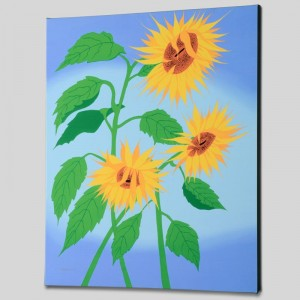 Summer Sunflowers Limited Edition Giclee on Canvas by Larissa Holt