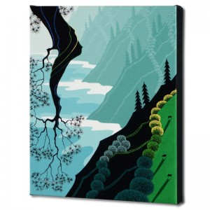 Coastal Fir Limited Edition Giclee on Canvas by Larissa Holt