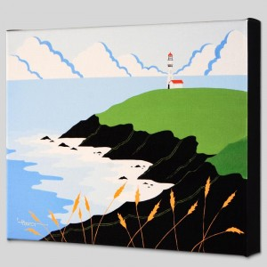 Fisherman's Lighthouse Limited Edition Giclee on Canvas by Larissa Holt