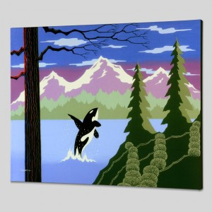 Orca Limited Edition Giclee on Canvas by Larissa Holt