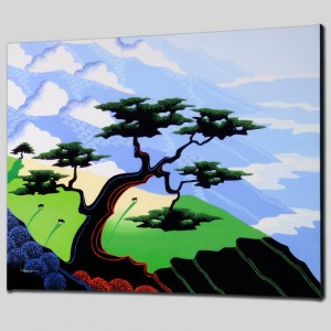 Cows, Coast, Tree Limited Edition Giclee on Canvas by Larissa Holt