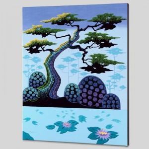 Lotus by Moonlight Limited Edition Giclee on Canvas by Larissa Holt