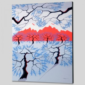 Red Mountains Limited Edition Giclee on Canvas by Larissa Holt