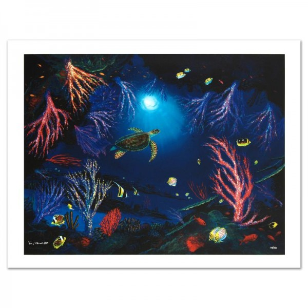 Coral Reef Garden Limited Edition Giclee on Canvas by Renowned Artist Wyland